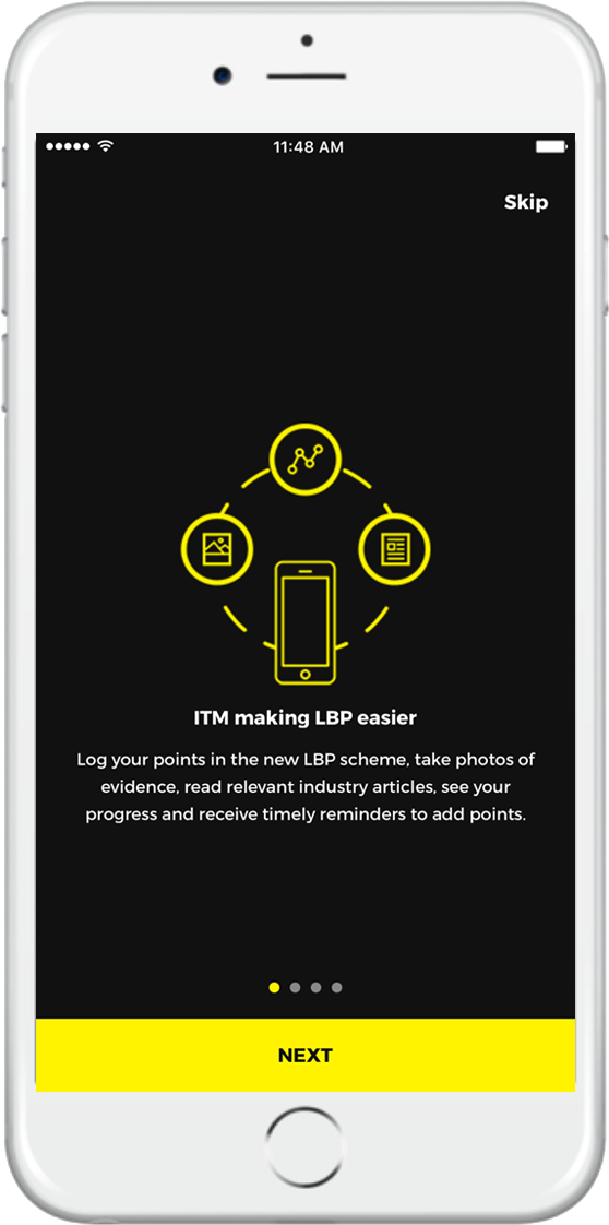 Download the ITM app and get LBP training and manage your LBP points